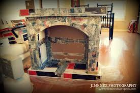 paper mache fireplace