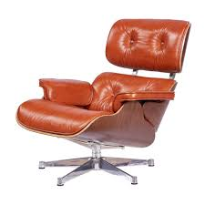 Eames Lounge Chair Traditionell Cognac Leder Nussbaum Holz Furnclassics