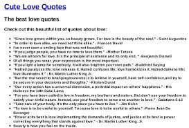 List Of Quotes Extraordinary List With The Best Love Quotes