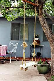 tree hanging swing set