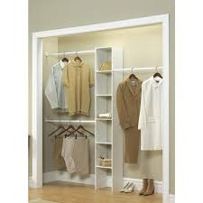 h white custom laminate closet system organizer