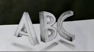 words 3d drawing abc drawing two point perspectives drawing how to draw 3d