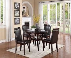 Amazoncom  Homelegance Shankmen Round 5Piece Dining Set Espresso  Table  u0026 Chair Sets
