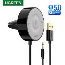UGREEN <b>Bluetooth 5.0</b> Car Kit <b>Receiver</b> aptX LL <b>Wireless</b> 3.5 AUX ...