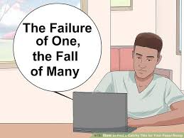 how to a catchy title for your paper essay steps image titled a catchy title for your paper essay step 3