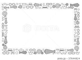 父の日のフレーム 白黒のイラスト素材 37644824 Pixta