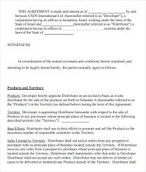 Business Sale Agreement Template Free Enchanting 48 Sample Exclusivity Agreement Templates Sample Templates