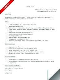 Manual Testing Resume Format Nice Software Testing Resume Samples ...