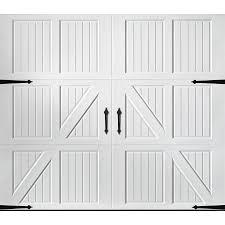 carriage garage doors no windows. Pella Carriage House 108-in X 84-in White Single Garage Door Doors No Windows E