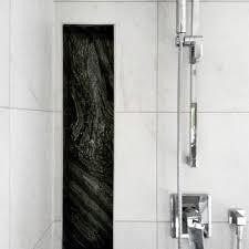 black and white tile shower niche ideas