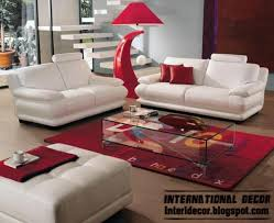 red and white furniture. Modern Living Room Red And White Decoration, Furniture Sofas