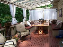 popular covered deck decorating ideas