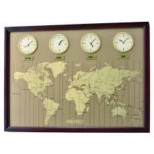 seiko clocks dark wooden wall clock