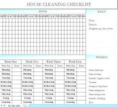 Cleaning Checklist Template Free Restaurant Cleaning Checklist Restaurant Daily Cleaning Schedule
