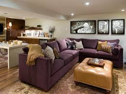 room furniture houston: decoration luxury media room furniture layout with purple sofa