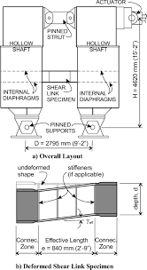 Shear Link Design Cyclic Behavior Of Shear Links Of Various Grades Of Plate