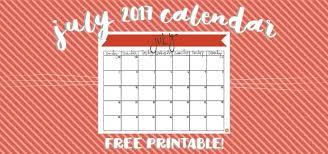 July 2017 Calendar Free Printable Live Craft Eat