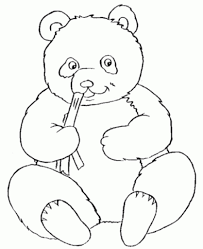 Small Picture Giant Panda Coloring Pages Hellokids regarding The Elegant Panda