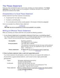 Thesis Statement For Education Essay Example Of Thesis Statement About Education More Topics