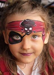 pirate face painting designs by mary fairgrieve