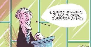 Resultado de imagem para 'NÃO EXISTE CRISE ECONÔMICA NO BRASIL', DIZ TEMER EM HAMBURGO:Charges