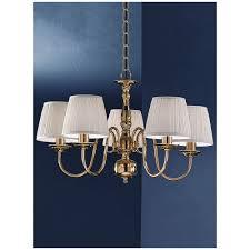 delft 5 light polished brass flemish chandelier pe7915