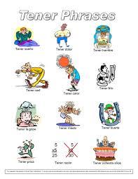 Tener Verb Chart Verb Tener Lesson Plans Worksheets Reviewed By Teachers