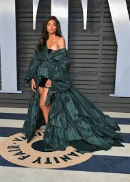 ciara in alexandre vauthier couture at the vanity fair oscar party photo dia dipasupil