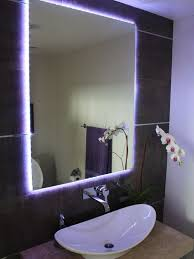 powder room bathroom lighting ideas. Creative Lighting With Led Light Strips Changing Trace The Outline Of This Vanity Mirror. . Powder Room Bathroom Ideas