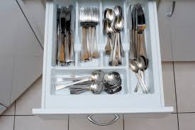 Kitchen Drawer Free Stock Photo 8142 Cutlery In An Open Kitchen Drawer