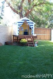 backyard forts treehouse playhouse kids outdoor play area