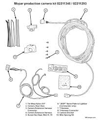 chrysler backup camera wiring diagram chrysler jeep grand cherokee wk parkview factory rear back up camera on chrysler backup camera wiring diagram