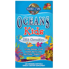 Oceans Kids DHA <b>Chewables</b> Omega-3 Berry Lime - 120 Softgels