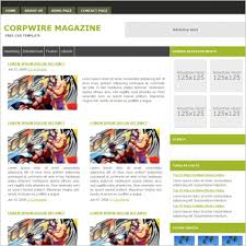 Corpwire Magazine Template Free Website Templates In Css