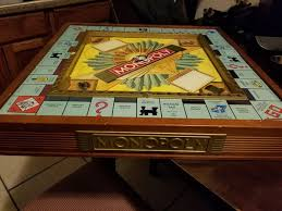 Wooden Monopoly Board Game 100th Anniversary Premier Edition Monopoly Wooden Game Audio 72