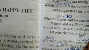 Explanation Of The Poem Character Of A Happy Life In Hindi And English For Class 12 U P Board