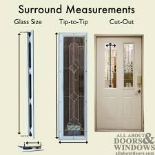 therma tru 7 x 64 x 1 2 5 lite sidelite surround w glass door lite