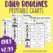 Daily Routine Chart Daily Routines Printable Charts In All You Do