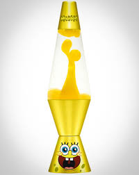 Spongebob Lava Lamp With Yellow Lava Clear Liquid And Yellow Base
