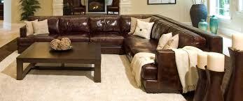elements fine home furnishings easton top grain leather sectional sofa saddle