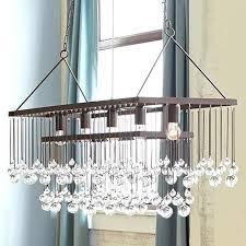 large rectangle chandelier long rectangular crystal rectangle chandelier large hanging white rectangular crystal long