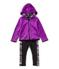under armour tracksuit. under armour little girls 2t-6x fleece hoodie jacket \u0026 jersey leggings set tracksuit
