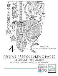 These pdf downloads are at your fingertips to celebrate the holidays.<br. 4 Festive Free Holiday Coloring Pages For Adults Pdf Favecrafts Com