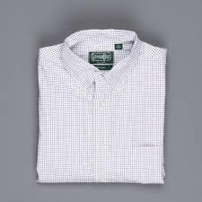 Gitman Vintage Button Down Shirt Blue Brown Check