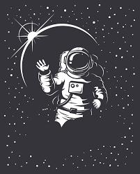 宇航员宇宙星球黑色背景素材免抠素材免费下载觅元素51yuansucom