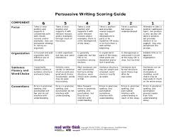 persuasive writing scoring guide persuasive writing scoring guidecomponent