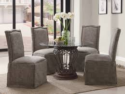 dining room adorable design ideas using rectangular brown rugs and rectangular grey fabric stacking chairs