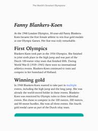 Dutch Charts Top 100 The Worlds Greatest Olympians