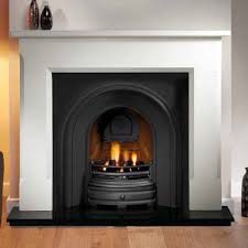 artisan harlington black arched cast iron fireplace