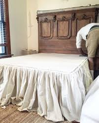 extra long bed skirt. Perfect Extra DIY No Sew Drop Cloth Bed Skirt Throughout Extra Long A